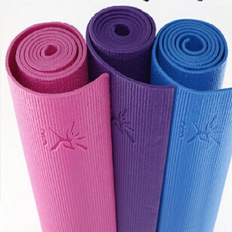 6mm PVC yoga mat embbosed logo
